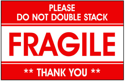Packing Glass Fragile Label