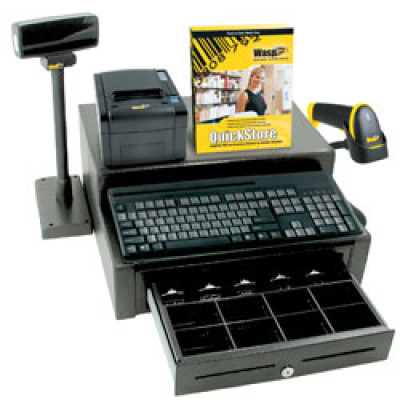Wasp QuickStore POS Hardware & Software Solution Bundle